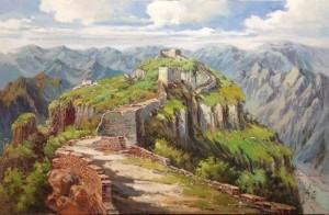 中国风格油画