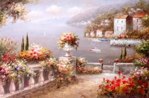 地中海油画