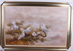 中画 和平鸽
