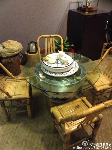 泡茶学习上网小圆桌