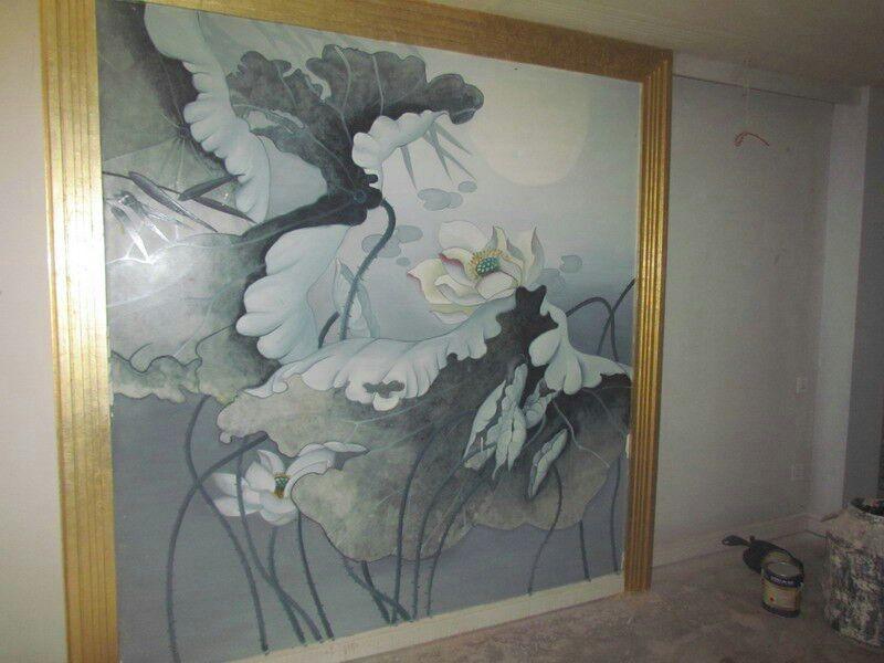 三明电视背景墙客户墙绘案例展示