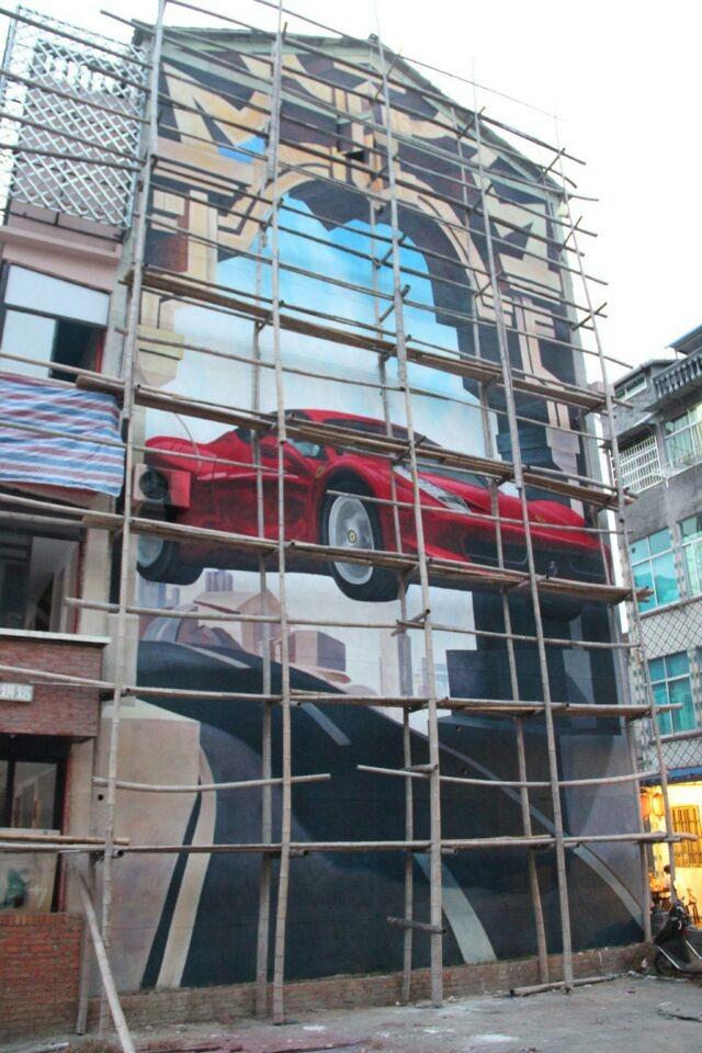 温州私人旅馆客户墙绘案例展示