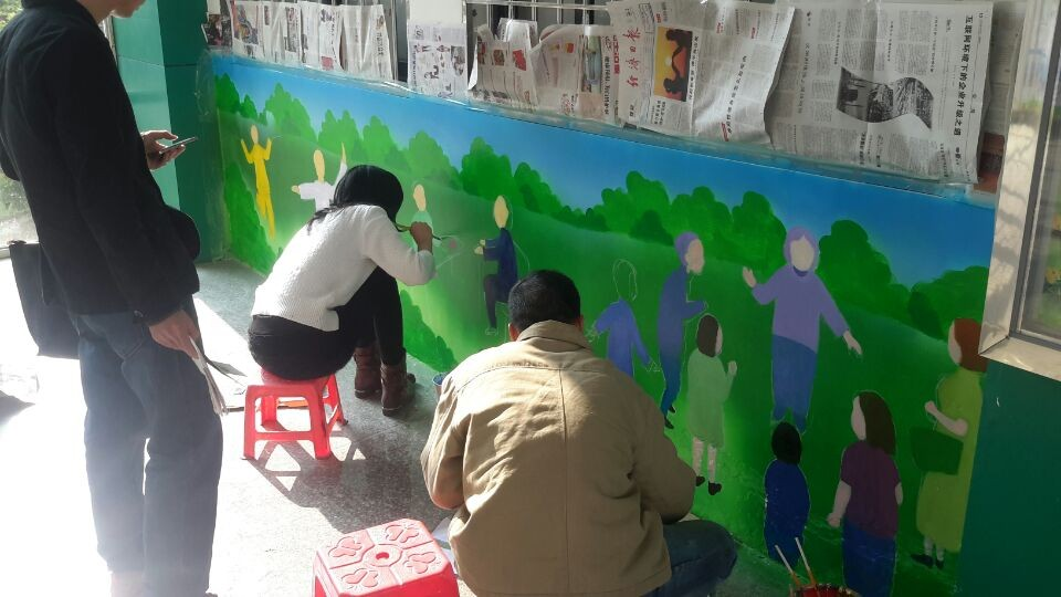 海沧海虹社区客户墙绘案例展示