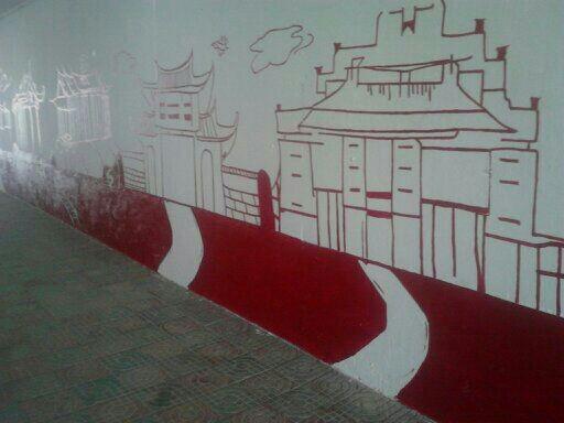 厦门集美万达地下通道客户墙绘案例展示
