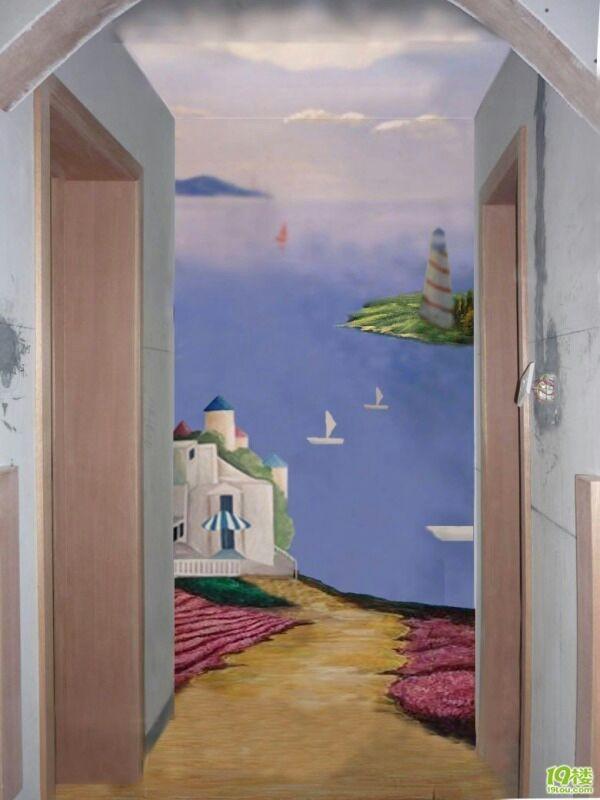 厦大玄关客户墙绘案例展示