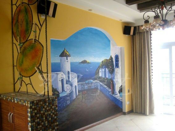 杏林湾小区电视背景墙客户墙绘案例展示