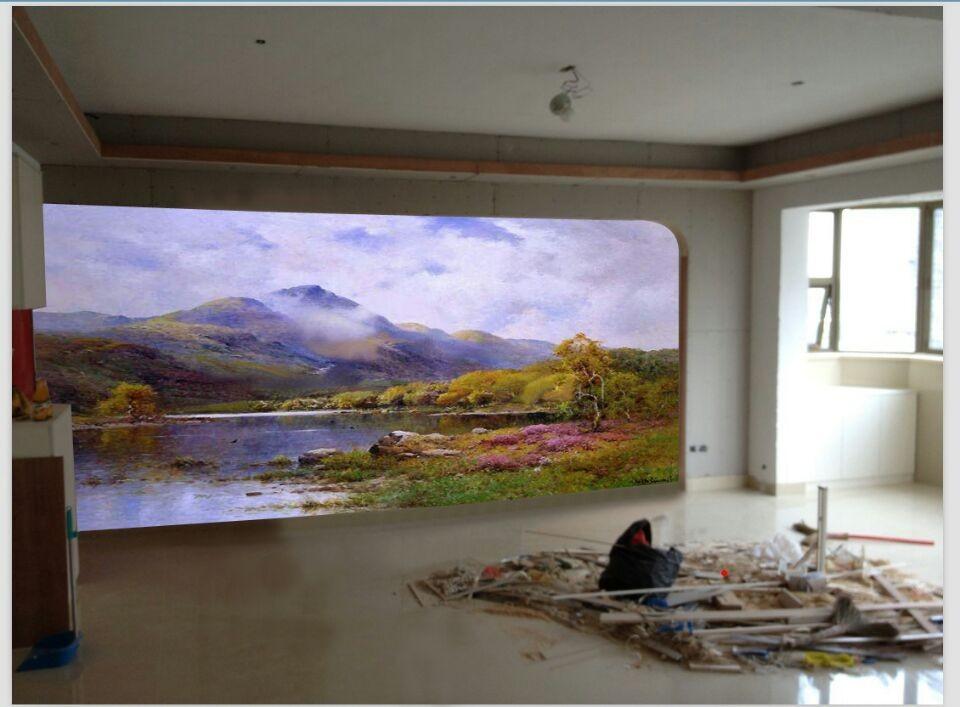 漳州家装电视背景墙客户墙绘案例展示