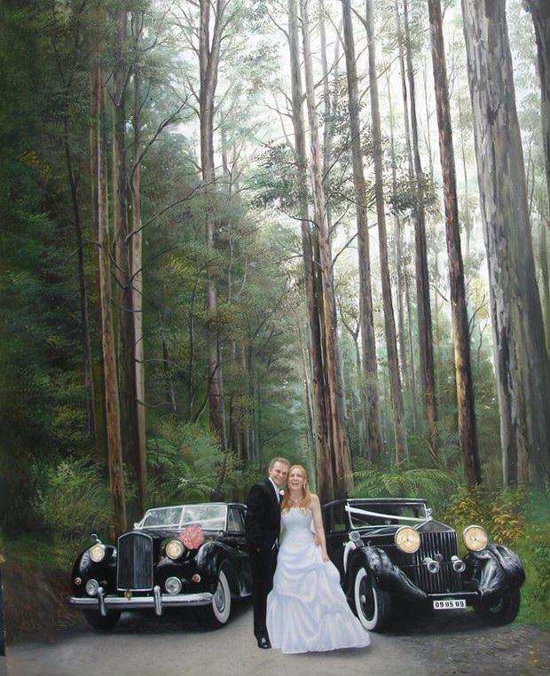 阿特斯油画婚纱照案例