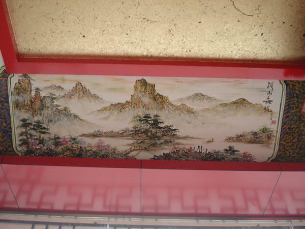 寺庙手绘墙