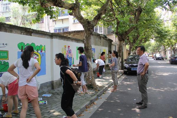 墙体彩绘进社区
