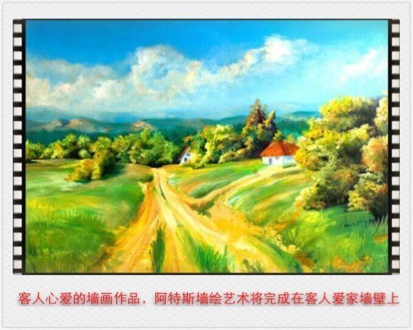 """晋江""""世外桃源风格""""墙绘作品案例"""