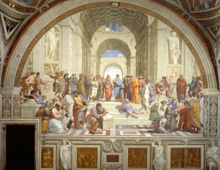 拉斐尔作品《雅典学院》