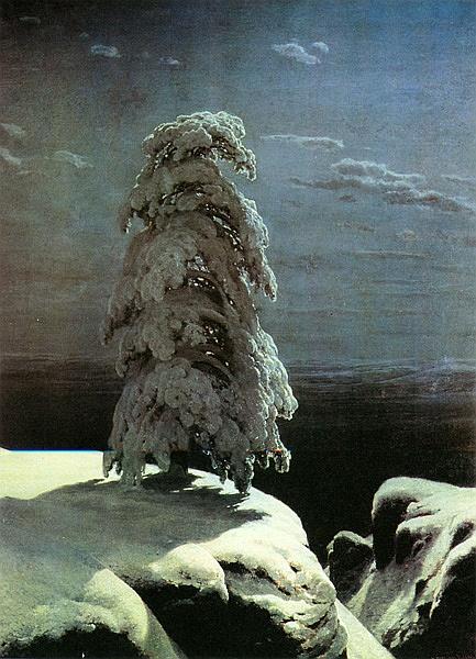 《在遥远的北方》希施金油画