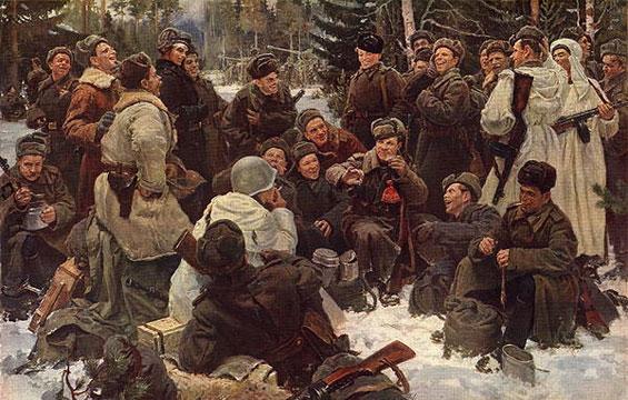 尤·涅普林采夫的《战斗后的休息》(1951)