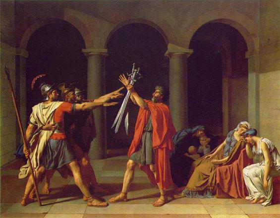 法国 大卫《赫拉斯三兄弟宣誓》(1785)