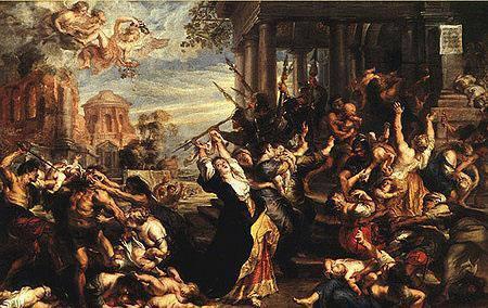 鲁本斯油画《殴打婴儿》