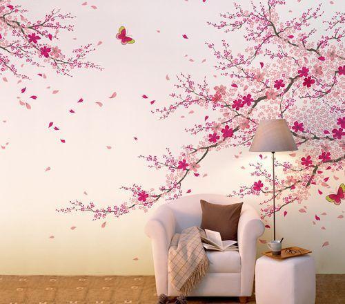 客厅手绘墙画 让家居生活更加生动