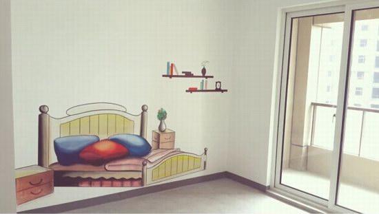 厦门样板房手绘墙