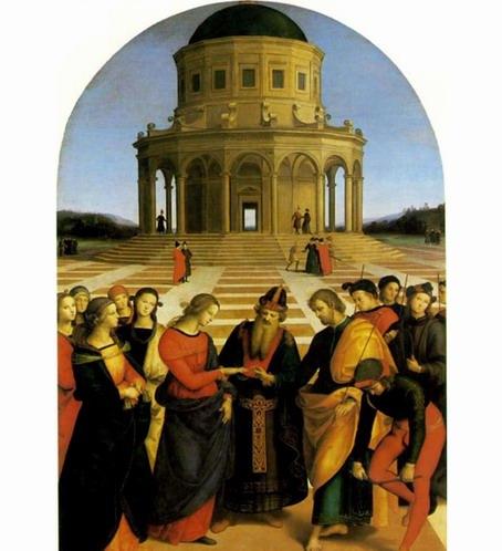 拉斐尔宗教油画人物《圣母的婚礼》