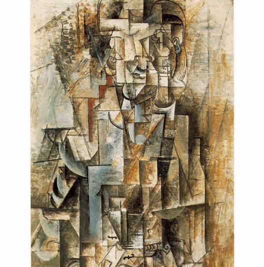 毕加索抽象人物油画《卡思维勒像》