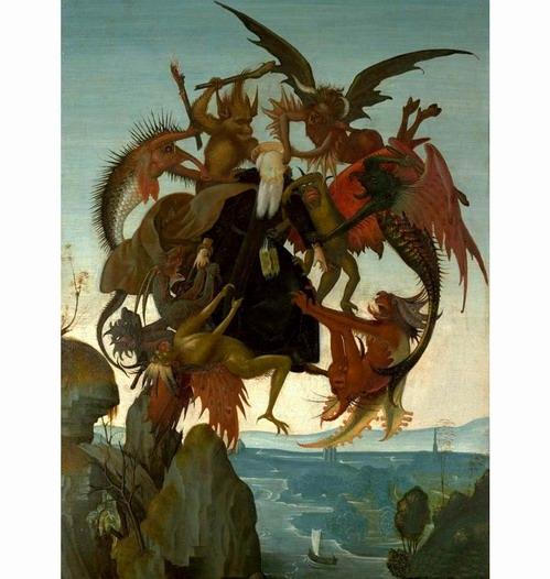 《圣安东尼的苦难》_米开朗基罗最早期油画