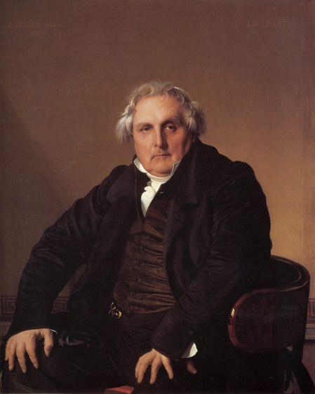 安格尔油画《贝尔登肖像》
