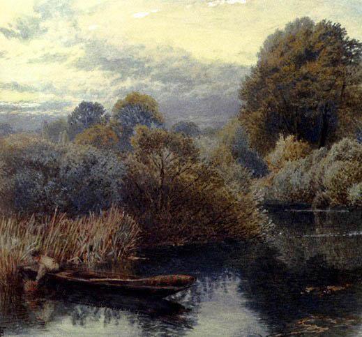 芦苇塘中的渔夫-伐斯特