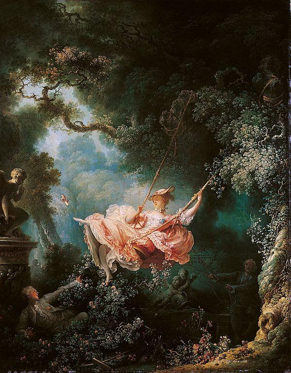 《秋千》弗拉贡纳尔油画名作