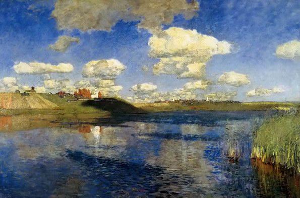 俄罗斯的湖 伊萨克·列维坦油画