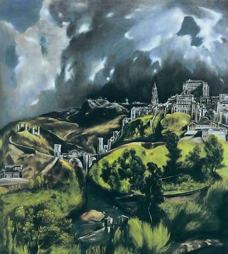 埃尔·格列柯油画《托列多风景》