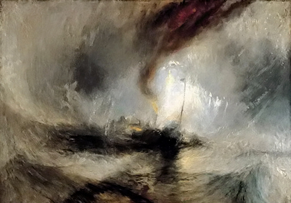 威廉·透纳印象油画《暴风雪》