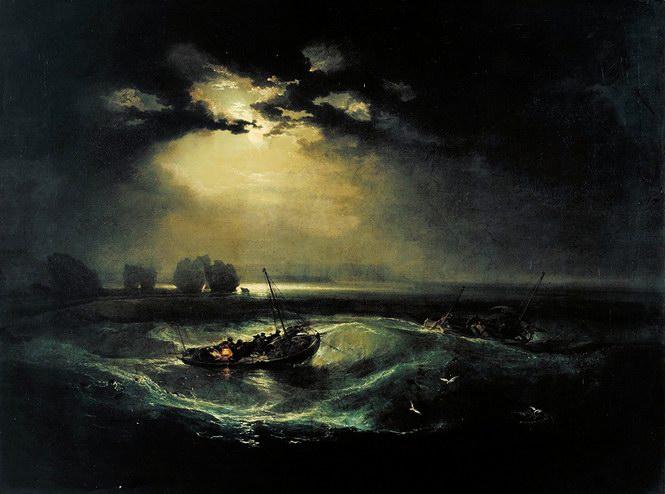 透纳1796年作品《海上渔夫》