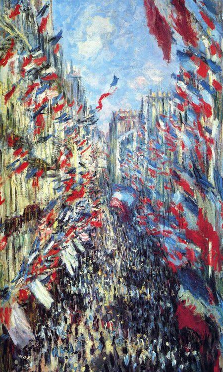 克劳德·莫奈油画《蒙托尔热街》