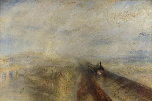 雨,蒸汽和速度 透纳油画