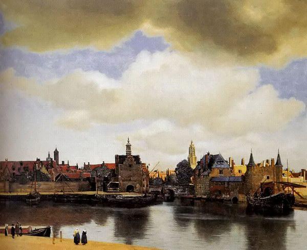 约翰尼斯·维米尔油画《德尔夫特远眺》
