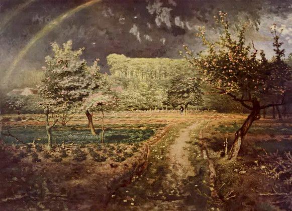 弗朗索瓦·米勒油画《春》