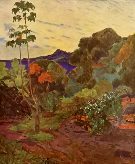 保罗·高更油画《热带植物》