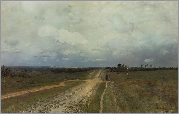 伊萨克·列维坦油画《弗拉基米尔卡》