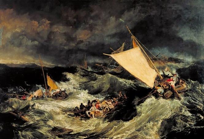 威廉·透纳油画《海难》