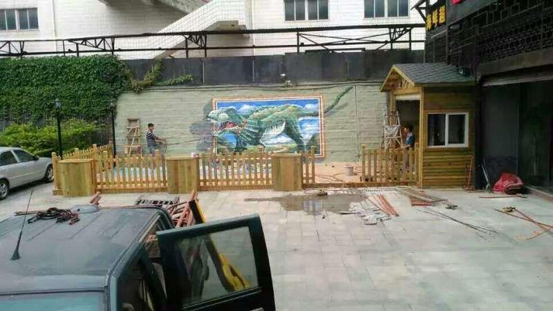 恐龙3D墙绘
